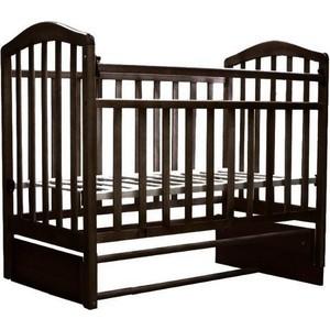 Кроватка Антел Алита-5 продольный маятник (венге) детские кроватки антел каролина 5 маятник продольный