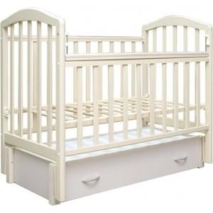 Кроватка Антел Алита-6 продольный маятник/закрытый ящик (белый) обычная кроватка антел алита 2 белый