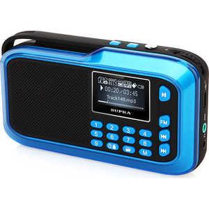 Портативная колонка Supra PAS-3909 blue rechargeable portable 1 3 lcd tf usb mp3 music speaker with fm radio black 3 5mm jack