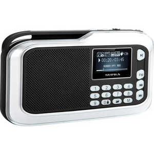 Портативная колонка Supra PAS-3909 silver rechargeable portable 1 3 lcd tf usb mp3 music speaker with fm radio black 3 5mm jack