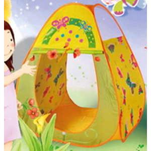 Игровая палатка Ching-Ching Бабочки, 85х85х100см, конус + 100 шаров (CBH-20) палатки домики babyone ching ching дом 100 шаров жираф