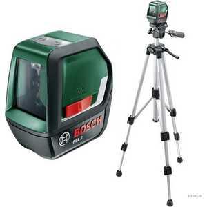 Купить со скидкой Лазерный нивелир Bosch PLL2 + штатив TT 150 (0.603.663.401)