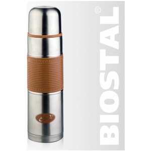 Термос с силиконовой вставкой Biostal мокко NB-1000P-C