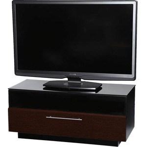 Тумба под телевизор Allegri Бриз 1 1250 красная вишня каркас черный стекло черное