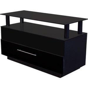 Тумба под телевизор Allegri Бриз 2 1050 черный глянец каркас черный стекло черн