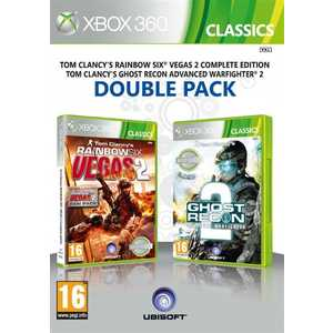 Игра для Xbox 360  Tom Clancy's Rainbow Six Vegas 2 and Ghost Recon Advanced Warfighter 2 (Xbox 360, английская версия)