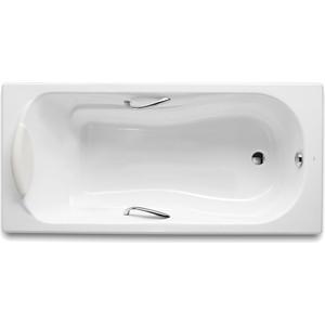 Чугунная ванна Roca Haiti 140x75 с отверстиями для ручек (2331G0000) чугунная ванна roca malibu 233360000 170x70 без отверстий для ручек