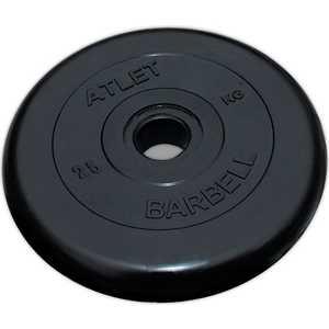 Диск обрезиненный Atlet 26мм 25кг черный бинокль бпц6 8х30 обрезиненный рубиновое покрытие