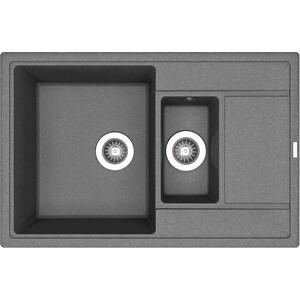 Мойка кухонная Florentina Липси 780К черный FG (20.250.D0780.102) цена и фото