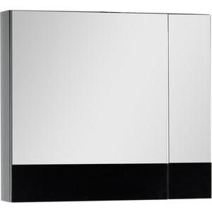 Зеркальный шкаф Aquanet Верона 75 черный (камерино) (175385) зеркало шкаф comforty марио 75 сосна лоредо