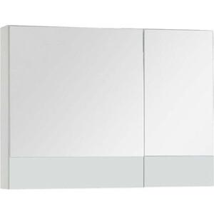 Зеркальный шкаф Aquanet Верона 90 белый (камерино) (172339) зеркало шкаф aquanet верона 90 дуб белый