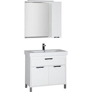 Комплект мебели Aquanet Гретта 90 У цвет белый глянец (179244)
