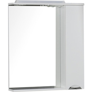 Зеркальный шкаф Aquanet Гретта 75 цвет белый (176899) зеркало шкаф аквамаста 44639