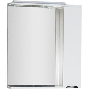 Зеркальный шкаф Aquanet Гретта 75 цвет св дуб (фасад белый) (173986) фасад мдф со стеклом сантук 716х446мм шампань светлый техно