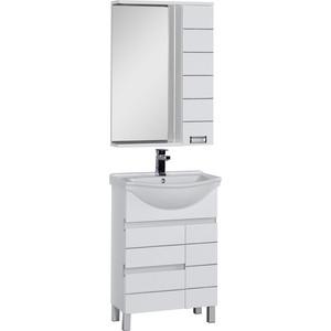 Комплект мебели Aquanet Доминика 60 цвет бел чаша горошек 2 л бел син 1150426