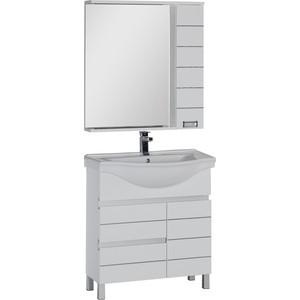 Комплект мебели Aquanet Доминика 80 №1 цвет белый зеркало croco 220 х 80 см