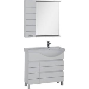 Купить комплект мебели Aquanet Доминика 90 R цвет бел (327844) в Москве, в Спб и в России