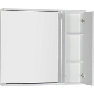Зеркальный шкаф Aquanet Доминика 100 LED цвет бел (171922) шкаф изотта 23к дверь правая ангстрем