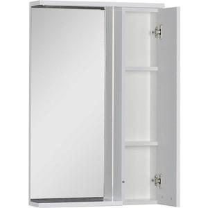 Зеркальный шкаф Aquanet Доминика 55 LED цвет бел (171079) шкаф изотта 23к дверь правая ангстрем