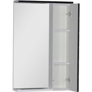 Зеркальный шкаф Aquanet Доминика 55 LED цвет бел (фасад черный) (171080) gira gira s 55 бел глянц накладка светорегулятора сенсорного с индикацией 226003