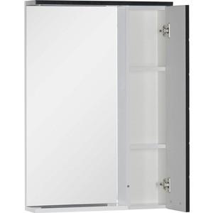 Зеркальный шкаф Aquanet Доминика 60 LED цвет бел (фасад черный) (171919) шкаф изотта 23к дверь правая ангстрем