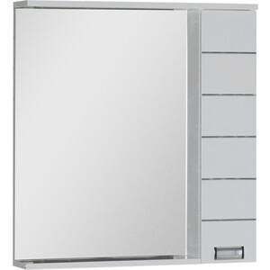 Зеркальный шкаф Aquanet Доминика 80 LED цвет бел (171081) шкаф изотта 23к дверь правая ангстрем