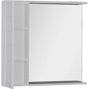Зеркальный шкаф Aquanet Доминика 90 LED R цвет бел ( (176571) roomble зеркало yk 90