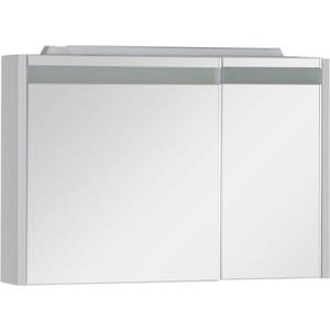 Зеркальный шкаф Aquanet Лайн 90 L камерино со свет (165582) зеркальный шкаф aquanet лайн 120 камерино со свет 164935