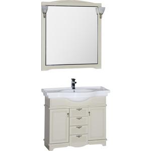 Комплект мебели Aquanet Луис 100 (007) цвет бежевый раковина-стол (Shenxin) цена и фото