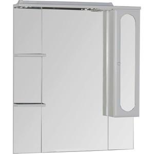 Зеркальный шкаф Aquanet Марсель 90 полки (100306) шкаф изотта 23к дверь правая ангстрем