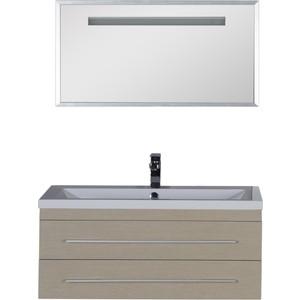 Комплект мебели Aquanet Нота 100 алюминий цвет светлый дуб комплект мебели aquanet нота 161271
