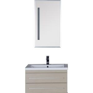 Комплект мебели Aquanet Нота 75 алюминий цвет светлый дуб вертран табл 16мг n30
