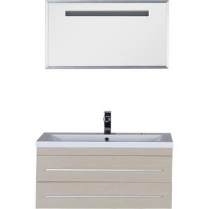 Комплект мебели Aquanet Нота 90 алюминий цвет светлый дуб (162876)