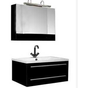 Комплект мебели Aquanet Нота 100 цвет черный глянец влагостойкий коврик xin ya