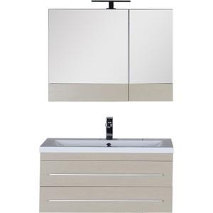 Комплект мебели Aquanet Нота 90 цвет светлый дуб утюг 90 х