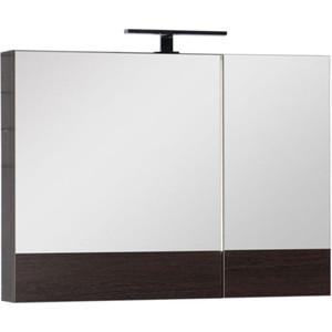 Зеркальный шкаф Aquanet Нота/Тоника 90 венге (камерино) (159110) шкаф зеркало aquanet сити 85 венге 149014