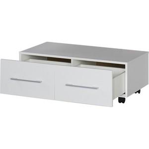 Тумба Aquanet Нота 90 подкатная цвет белый глянец (170737) комплект мебели aquanet тиана 90 у с б к цвет венге фасад белый