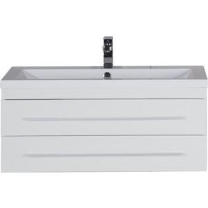 Тумба под раковину Aquanet Нота 100 (005) цвет бел глянец (171496)