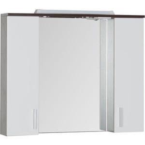 Зеркальный шкаф Aquanet Тиана 100 wenge (фасад белый) (172679) комплект мебели aquanet тиана 100 с б к цвет венге фасад белый