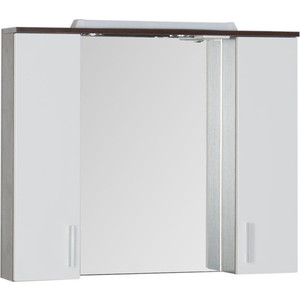Зеркальный шкаф Aquanet Тиана 100 wenge (фасад белый) (172679) зеркальный шкаф aquanet тренто 120 wenge 156445