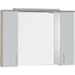 Зеркальный шкаф Aquanet Тиана 100 св дуб (фасад белый) (172806) комплект мебели aquanet тиана 100 с б к цвет венге фасад белый