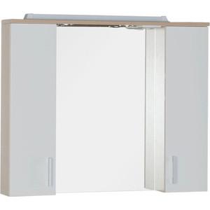 Зеркальный шкаф Aquanet Тиана 90 св дуб (фасад белый) (172807) комплект мебели aquanet тиана 100 с б к цвет венге фасад белый