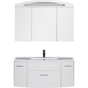Фотография товара комплект мебели Aquanet Тренто 120 цвет белый (328176)