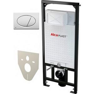 Комплект Alca Plast 4 в 1 инсталяция A101/1200 с клавишей M070 с шумоизоляцией M91 с крепежом (A101+M070+M91)