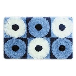 IDDIS Blue Circles Коврик для ванной 50*80 см, акрил (270A580i12) iddis curved lines blue коврик для ванной 50 80 см акрил 400a580i12