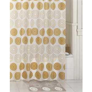 Штора для ванной IDDIS Chequers Golden 200х200 см