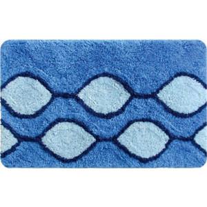 IDDIS Curved Lines Blue Коврик для ванной 50*80 см, акрил (400A580I12) штора для ванной iddis curved lines blue цвет голубой 200 x 200 см