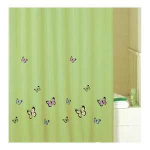 Штора для ванной IDDIS Green Butterfly 200х200 см