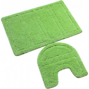 IDDIS Green Landscape Набор ковриков для ванной 60*90 см, 50*50 см, микрофибра (240M590i13) набор ковриков для ванной iddis beige landscape цвет бежевый 60 х 90 см 50 х 50 см 2 шт