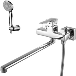 Смеситель для ванны Lemark Basis с изливом 350 мм с аксессуарами (LM3617C) смеситель для ванны коллекция basis lm3617c однорычажный хром lemark лемарк
